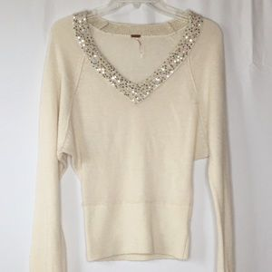 Free people Embellished sweater size small wool